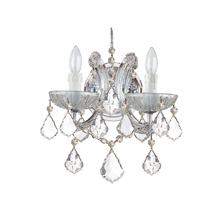 Crystorama 4472-CH-CL-MWP - Crystorama Maria Theresa 2 Light Clear Crystal Chrome Sconce II